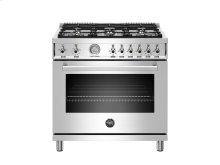 36 inch 6-Burner, Gas Oven Stainless