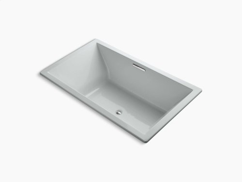 "Ice Grey 72"" X 42"" Drop-in Vibracoustic + Bubblemassage Air Bath With Center Drain"