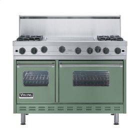 """Mint Julep 48"""" Open Burner Range - VGIC (48"""" wide, four burners 24"""" wide griddle/simmer plate)"""