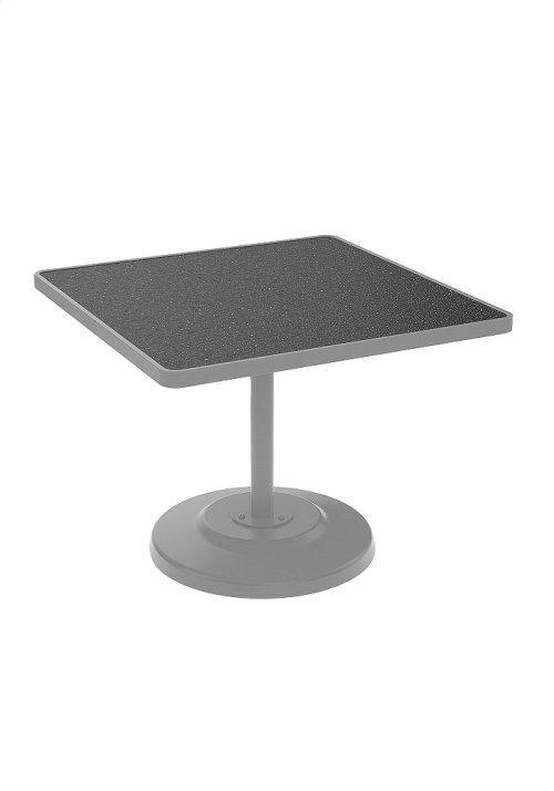"Raduno 36"" Square KD HPL Pedestal Dining Umbrella Table"