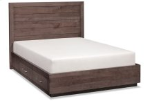 Ironwood Planked Storage Bed, California King