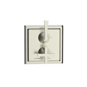 Dual Control Thermostatic with Volume Control Valve Trim Leyden (series 14) Satin Nickel (1)
