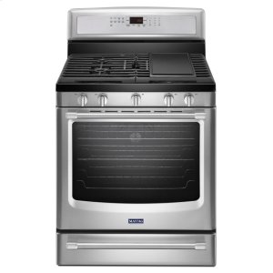 Maytag30-inch Wide Gas Range with Convection and Power Preheat - 5.8 cu. ft.