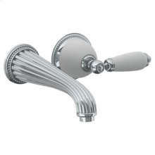 """Wall Mounted 2 Hole Lavatory Set With 8 1/4"""" Ctc Spout (available With Ferrara White or Cordoba Black Marble)"""