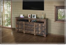 "70"" TV Stand w/2 Doors, 2 Drawer & 2 shelves"