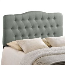 Annabel Full Upholstered Fabric Headboard in Gray