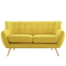 Remark Upholstered Fabric Loveseat in Sunny