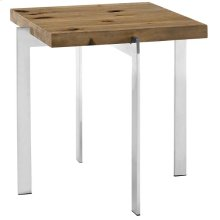 Diverge Wood Side Table in Brown