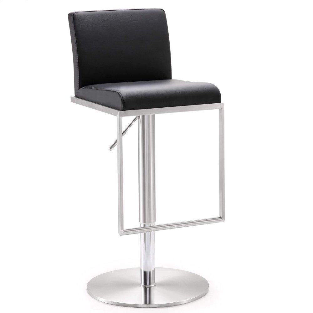 Amalfi Black Stainless Steel Adjustable Barstool