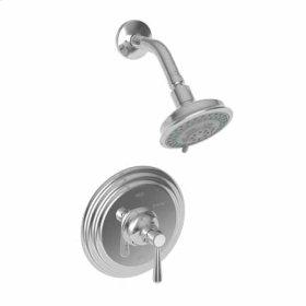 Uncoated Polished Brass - Living Balanced Pressure Shower Trim Set
