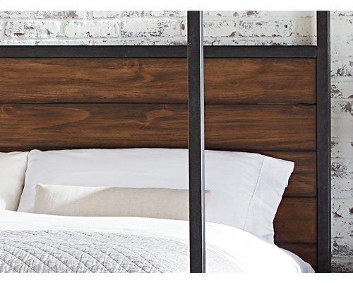 Milk Crate Framework Canopy Queen Bed
