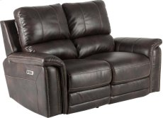 Pwr Loveseat Dual Rclnr With Usb & Pwr Hd Product Image
