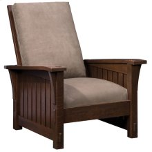 Tight Seat Slatted Morris Chair