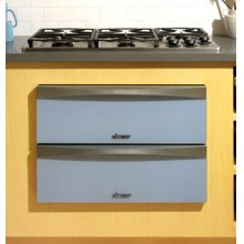 """Preference 30"""" Warming Drawer, with Glass Front Panel in Titanium Silver"""