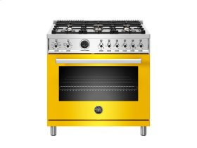36 inch 6-Burner, Electric Self-Clean Oven Yellow