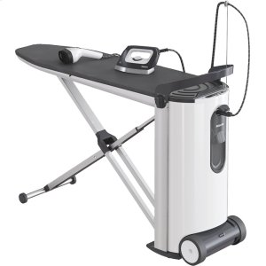 MieleSteam ironing system with display and steamer for perfect ironing results and convenience.