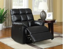 Comfort Haven Power Recliner in Black Bonded Leather