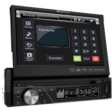 """7"""" Single-DIN In-Dash DVD Receiver with Flip-out Display & Bluetooth®"""