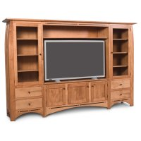 Aspen Wall Unit Entertainment Center with Inlay Product Image