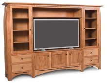 Aspen Wall Unit Entertainment Center with Inlay