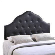 Sovereign Queen Upholstered Vinyl Headboard in Black
