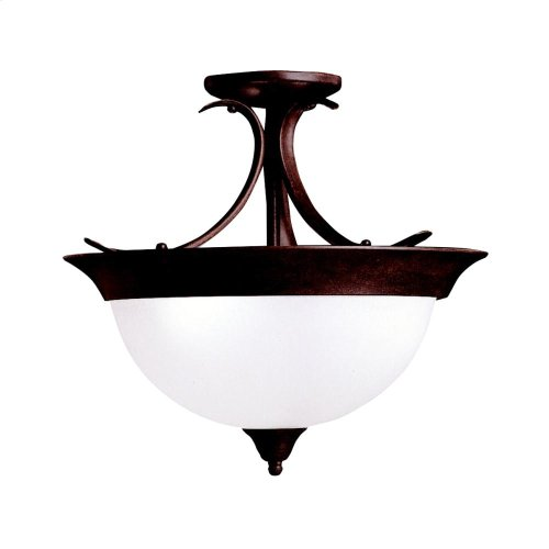 Dover Collection Dover 3 Bulb Semi Flush Ceiling Light NI