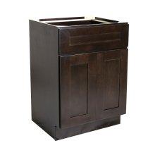 Brookings Unassembled Shaker Base Kitchen Cabinet 24x34.5x24, Espresso #561951