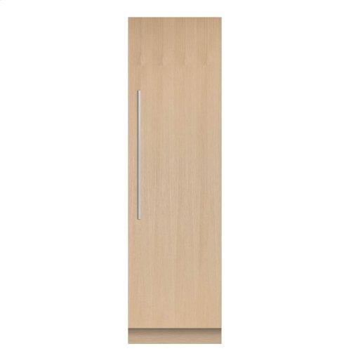 "Integrated Column Freezer 24"", Stainless Steel Interior"