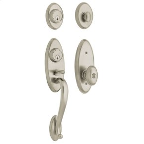 Satin Nickel Landon Two-Point Lock Handleset