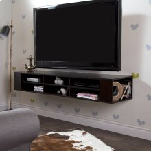Wall Mounted Media Console - 66\ - Chocolate
