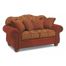 Bexley Two-Tone Fabric Loveseat with Nailhead Trim
