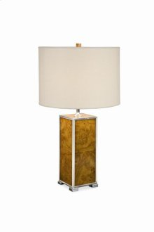 Michel Olive Ash Burl Table Lamp