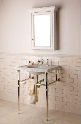 Vintage Washbasin, 27 Inch Carrara Marble / Vintage Washbasin