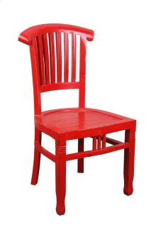 Sunset Trading Cottage Distressed Red Slat Back Chair - Sunset Trading