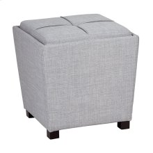 2-piece Ottoman Set With Tray Top In Milford Dove Fabric