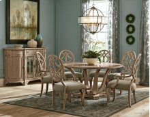 7 PIECE SET (TABLE, 2 ARM CHAIRS AND 6 SIDE CHAIRS)