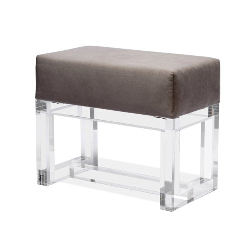 Avalon Stool - Grey Velvet