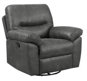 Nelson - Swivel Glider Recliner Charcoal-dixie Seal Product Image