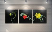 Fruits With Splash Black Background artwork
