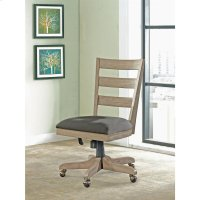 Perspectives - Wood Back Upholstered Desk Chair - Sun-drenched Acacia Finish Product Image