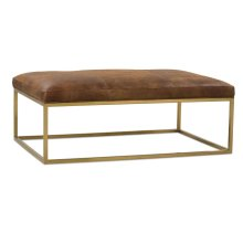Percy Leather Cocktail Table - Gold