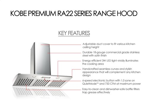 "36"" Wall Mount - Premium RA22 SQB-1 Series"