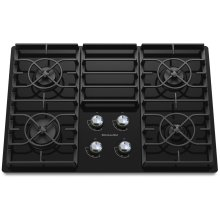 30-Inch 4-Burner Gas Cooktop, Architect® Series II - Black
