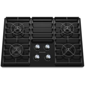30-Inch 4 Burner Gas Cooktop, Architect® Series II - Black -