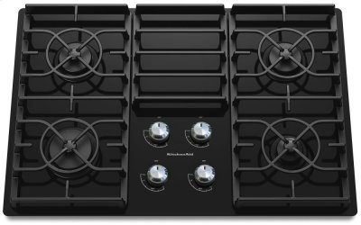 30-Inch 4 Burner Gas Cooktop, Architect® Series II - Black Product Image