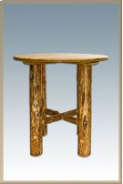 Glacier Country Log Bistro Table Product Image