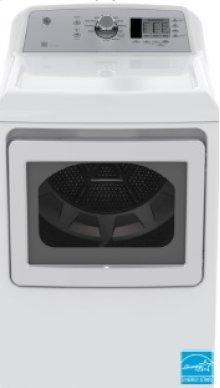 Top Load Matching Dryer - GE 7.4 cu ft.capacity DuraDrum2 gas dryer with Sensor Dry