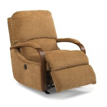 Woodlawn Fabric Power Rocking Recliner