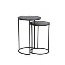 Side table S/2 35x51+ 40x60 cm TALCA lead antik edge