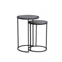 Side table S/2 35x51+ 40x60 cm TALCA lead antik edge